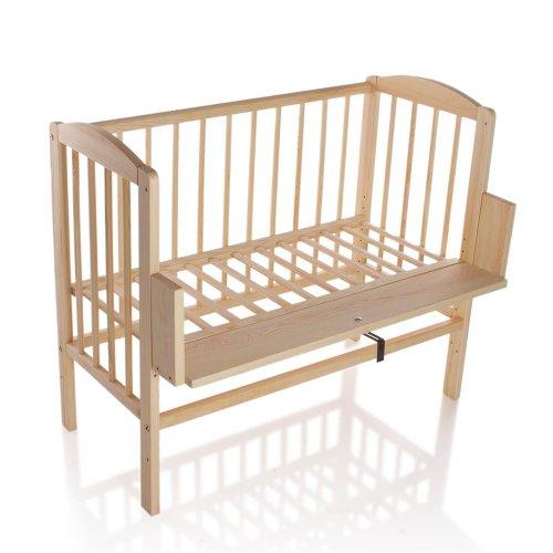 Preisvergleich Produktbild Kinderbett Gitterbett Beistellbett Maria 90x40cm - Natur