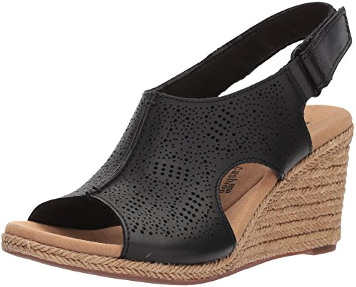 Clarks Wouomo Lafley rosan Platform, nero Leather, 12 Medium US | Design ricco