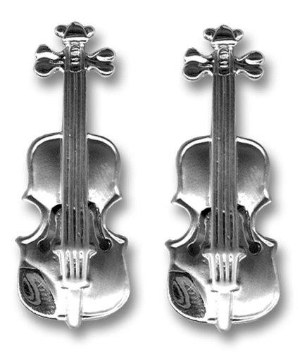 Music Cufflinks-Gemelli a violino, colore: argento