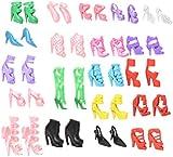 JETTINGBUY 20 Pcs/10 Pair Slap-up Fashion High-Heeled Shoes For Barbie Dolls