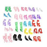 JETTINGBUY 20 Pcs/10 Pair Slap-up Fashion High-Heeled Shoes For Barbie Dolls