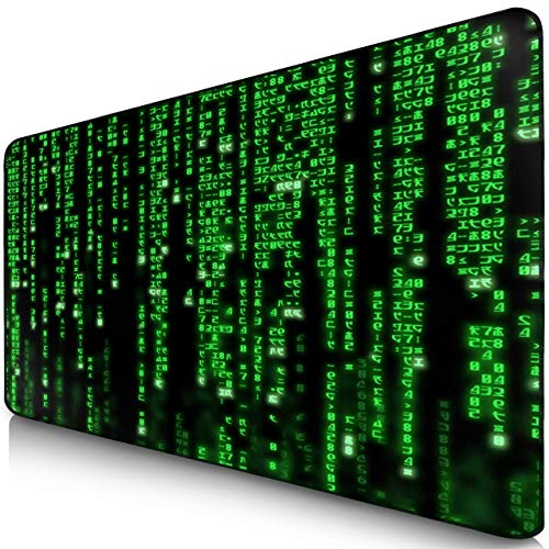 Sidorenko XXL Gaming Mauspad | 900 x 400mm | Mousepad | spezielle Oberfläche verbessert Geschwindigkeit und Präzision | Fransenfreie Ränder | rutschfest | Schwarz -