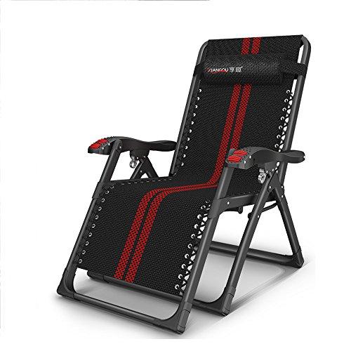 Feifei Garden Sun Loungers Chaise de Pont en Acier Multifonction Chaise de plageMulti-Angle d'ajustement Appuie-tête Pliable (Couleur : 01)