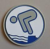 Erlebe Wasser Silber Schwimmabzeichen PVC-Abzeichen RUND NEUHEIT!
