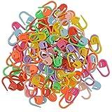 LUFA 100pcs tricotar ganchillo bloqueo puntada aguja clip marcadores titular Multicolores