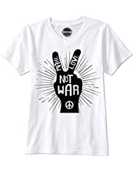 PHUNKZ T-SHIRT MAKE LOVE NOT WAR PEACE VICTORY HIPPIE WOODSTOCK SUMMER OF LOVE