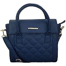 Lapis O Lupo Women's PU Handbag (Blue, LLHB0024BL)