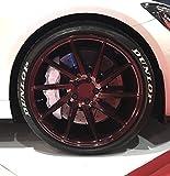 4 x Tire Style Reifenaufkleber - Dunlop - Finest Folia Reifenschrift Aufkleber (Weiß, 16 Zoll)