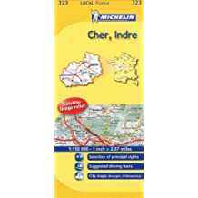 Michelin Map France: Cher, Indre 323