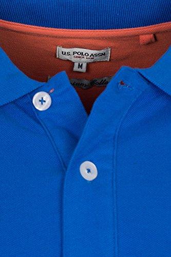 U.S. Polo Assn. Shirt Herren Poloshirt Polohemd Baumwoll Hemd in Verschiedenen Farben Blau
