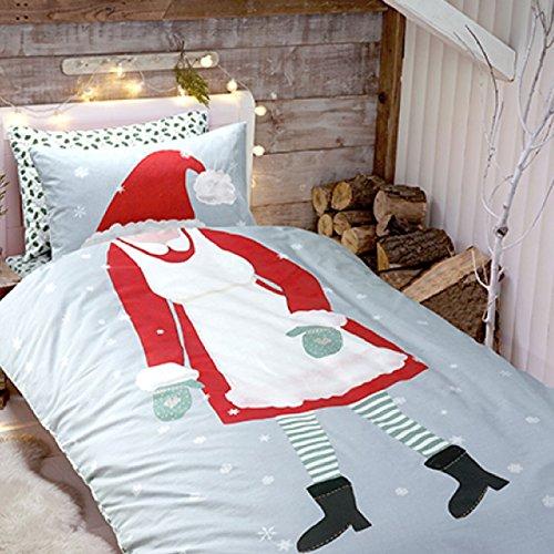 Mikrofaser-cami-set (neuen Kleid bis Weihnachten Mädchen Bettbezug Set Print mit Kissen Fall Betten Quilt Cove, DRESS UP CHRISTMAS GIRLS, Einzelbett)