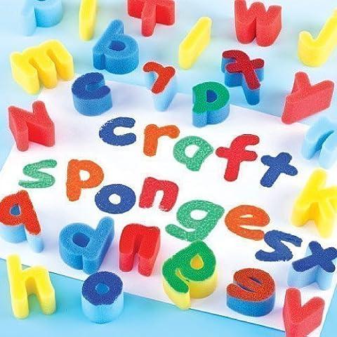 Lower Case Alphabet Sponges (Set of 26)