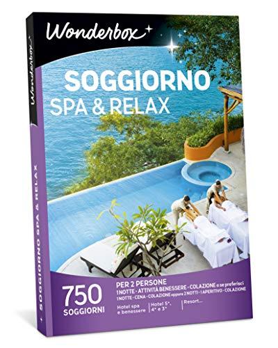 Wonderbox cofanetto regalo per coppia - soggiorno spa & relax - 750 soggiorni per 2 persone