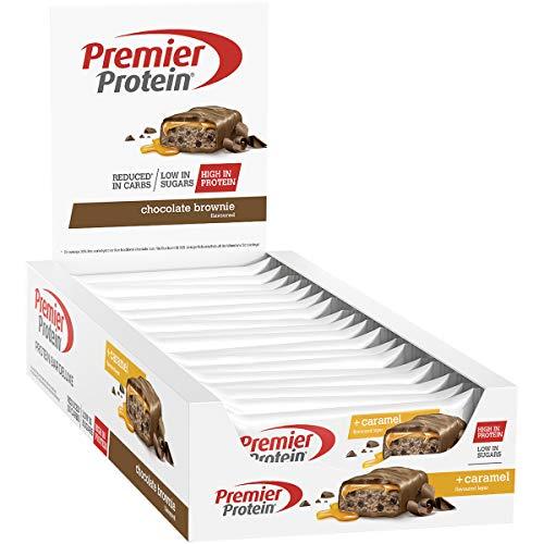 Premier Protein Bar Deluxe, Eiweißriegel, mit hohem Proteingehalt 40%, kohlenhydratreduziert, Chocolate Brownie (18x50g)