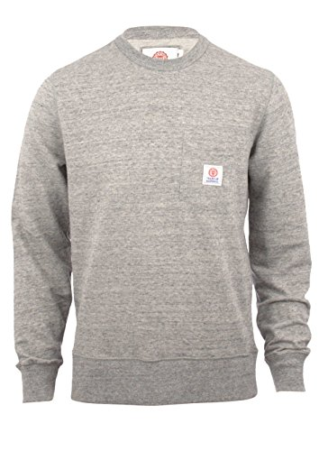 Franklin-Marshall-Fleece-Round-Neck-Pocket-Sport-Grey-Mel