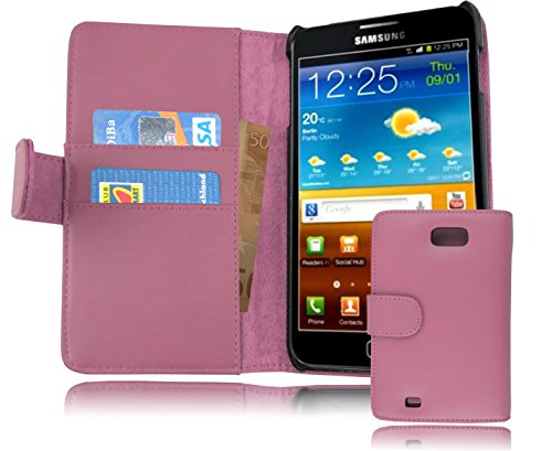 Cadorabo - Etui Housse pour Samsung Galaxy NOTE 1 (N7000) - Coque Case Cover Bumper Portefeuille (avec fentes pour cartes) en ROSE BONBON