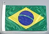 Bootsflagge Brasilien 20 x 30 cm in Profiqualität Flagge Motorradflagge