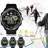 Chen0-super Smart Watch Vibe 4, Hybride Robuste Hybride Smartwatch étanche à 50m 24Mois Veille Toutes Saisons de Surveillance Smart Watch Temps 24h pour Homme Femme, Noir,