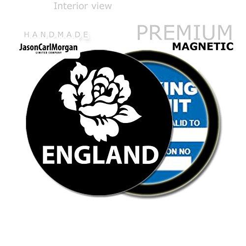 Plakettenhalter für Pkw von JCM mit englischer Rugby-Rose, schwarz (Jason Steuer)