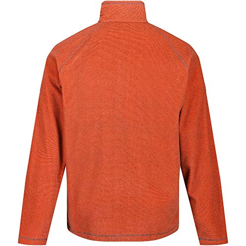 Regatta Montes Herren Fleece-Jacke mit halbem Reißverschluss 3XL Burnt Salmon Raglan-microfleece-pullover
