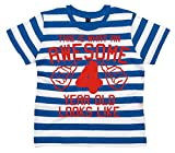 Search : Edward Sinclair Awesome 4 Year Old Looks Like Children's Striped T-Shirt 4th Birthday T-Shirt