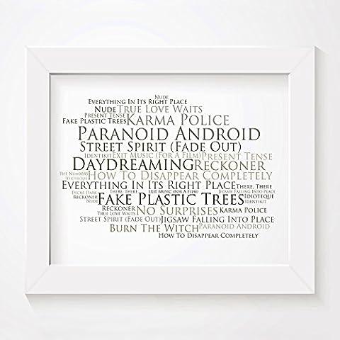 'Platinum` Poster Affiche d'art - RADIOHEAD - Edition signée et
