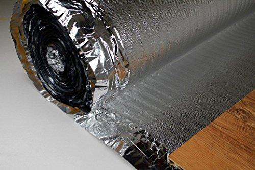 50 qm |Trittschaldämmung | Alu Dampfsperre | recyclebar | Hexim | Silver Plus | 2 mm