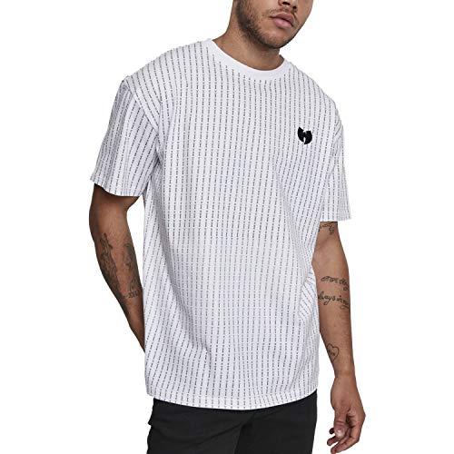 Wu Wear Herren Pin Stripe Tee T-Shirt, White, XL White Stripe Beanie