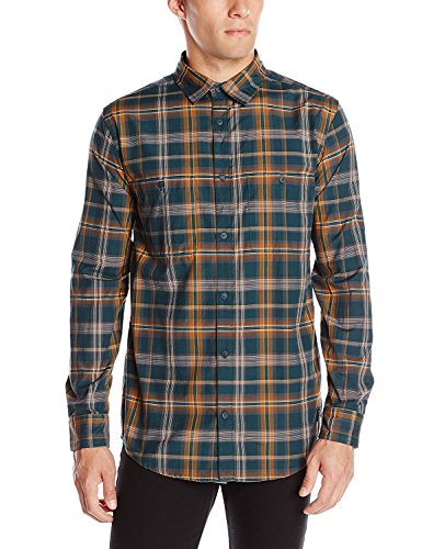 DC Men's Federal Long Sleeve Woven, Predator Plaid, X-Large (Plaid Woven-sport-shirt)
