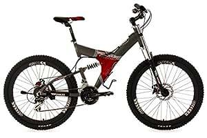 VTT tout suspendu 26'' G-Titan gris-rouge TC 50 cm KS Cycling