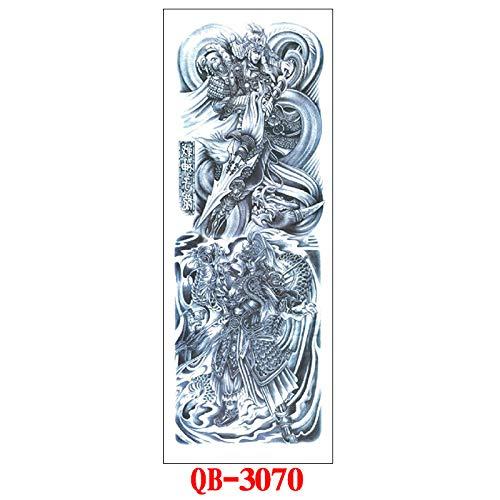 Tzxdbh 3PCs - Etiqueta engomada Tatuaje Brazo Completo