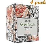 greentouch 4Pack All Natural Konjac Esponja Facial   quitar el aceite y exfoliación   limpieza profunda   mejorado textura de la piel   planta cable de 100% biodegradable   paquete familiar