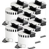 10x compatible Etiquetas continuas DK22205 blanco para Brother impresora de etiqueta QL1050 / QL1060 / QL500,...