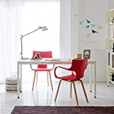 Need Mesa de Studio Escritorio Mesa de Ordenador Mesa de Cmedor 120 x 60 x 75 cm, Color Blanco