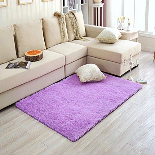 LLQ suave interior moderna Sala de estar de peluche alfombra alfombras para niños dormitorio decoración para el hogar guardería Rugs