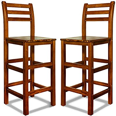 2x Bar Stool Kitchen Breakfast Counter with Footrest - Model Choice - Pack of 2 - low-cost UK light shop.