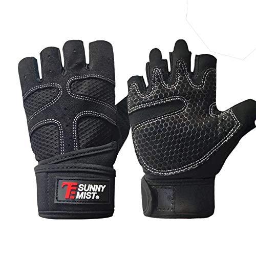 Fitness Handschuhe, ARTOP Fitnesshandschuhe Gewichtheben mit Handgelenkstütze Sporthandschuhe für Training Fitness Krafttraining Bodybuilding-Herren Männer Damen(Black,XL)