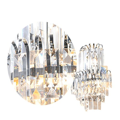 E14 European Luxury Fashion Crystal Lampe Zimmer Hotel Restaurant Bett Haus Dekor Mauer Licht Leuchte,25 * 30cm -