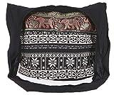 Guru-Shop Sadhu Bag, Schulterbeutel, Hippie Tasche Ikat - Blau/schwarz, Herren/Damen, Baumwolle,...