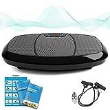 Bluefin Fitness 3D Dual-Motor Vibrationsplatte mit Bluetooth 4.0 Lautsprecher | Oszillation und Vibration | Ultimatives Fitnessgerät für Fettabbau und Gewichtsreduzierung