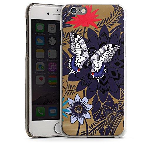 Apple iPhone 5 Housse étui coque protection Papillon Fleurs Fleurs CasDur transparent