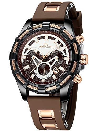 Herren Uhren Manner Wasserdicht Sport Chronograph Große Designer Blau Schwarz Armbanduhr Mann Business Mode Leuchtende Datum Modisch Analoge Gummi Uhr