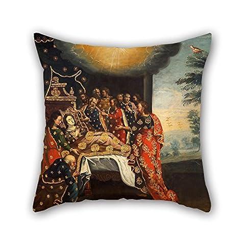 alphadecor 50,8x 50,8cm/50von 50cm Ölgemälde Anonymous Cusco Schule–Ruhende der Jungfrau Kissen, je Seite Ornament und Geschenk zu Couch,, Raum, Sohn, Familie, Zeichnen, Boden