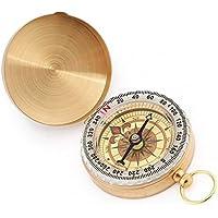 Ndier Pocket - Brújula de Cobre, Impermeable, Luminoso, Estilo de Reloj