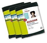 ALCLEAR 950003i Ultra-Microfaser Displaytuch für iPhone, iPad und iPod, 19x14 cm, anthrazit,3er Set