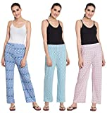 #4: FflirtyGo Cotton Printed Payjama/Lounge Wear –Soft Cotton Night Wear/Pyjama for Women(Pack of 3Pcs), Prints May Vary - Mix Prints (Assorted Pyjama), Save Rs. 198/-