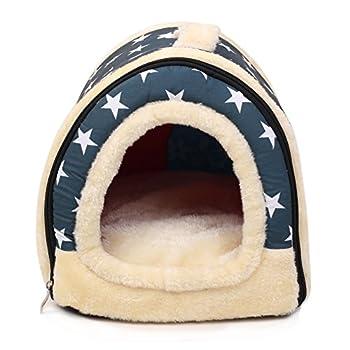 Enko Luxury Cozy 2-in-1 Pet House et Canapé, De Haute Qualité Intérieur et Extérieur Portable Foldable Dog Room / Lit Pour Chat. Donnez à Votre Animal un Maison Confortable.(<3KG animal de compagnie)