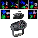 PXL-BA® Indoor LED Projection Lights Christmas Projector Lamp with 7PCS Interchange Slides Rotating Colorful Landscape Light RGB Stage Lighting for Christmas, Birthday, Wedding, Party, Kids Room, Home Decor