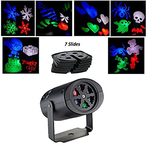 PXL-BA® Indoor LED Projection Lights Christmas Projector Lamp with 7PCS