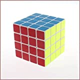 DELED® 4X4X4 Speed Magic Plastic Cube Ultra-smooth Educational Puzzle Toy White by DELED